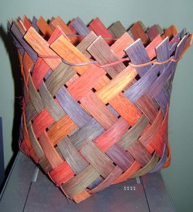 Random Dyed Plaited Basket