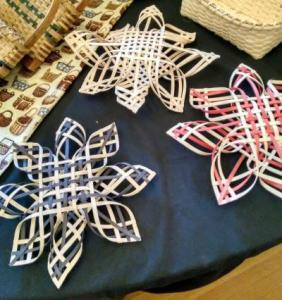 snowflakes on display web